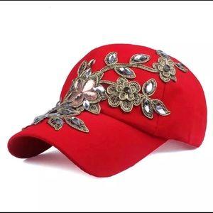 Women's baseball cap Flowers NWT